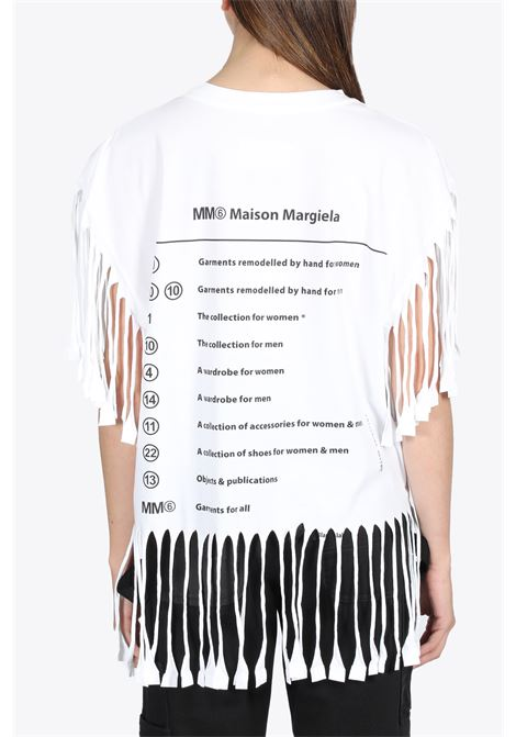 FRINGED T-SHIRT MM6 MAISON MARGIELA | 8 | S62GD0082 S23588100