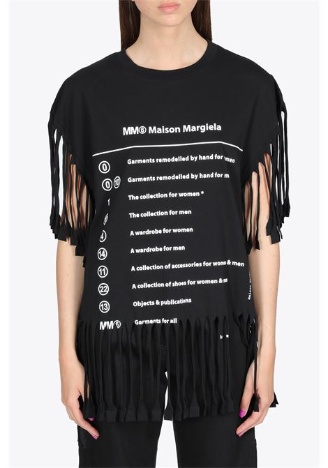FRINGED T-SHIRT MM6 MAISON MARGIELA | 8 | S62GD0082 S23588900