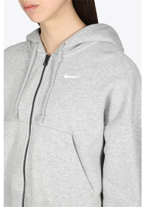CROPPED HOODIE WITH ZIP NIKE | -108764232 | CK1505-063GREY