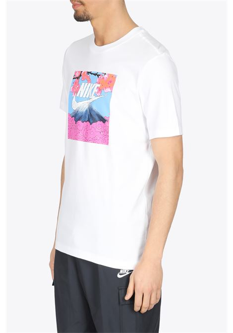 MOUNT FUJI T-SHIRT NIKE | 8 | DB6153-100WHITE/PINK/LIGHTBLUE