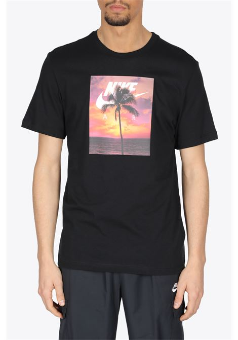 PALM TREE T-SHIRT NIKE | 8 | DB6163-010BLACK/ORANGE/PINK