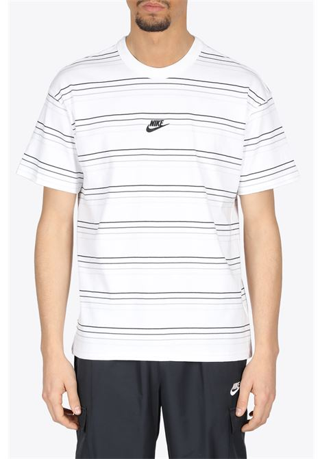 striped tee NIKE | 8 | DB6531-100WHITE/BLACK
