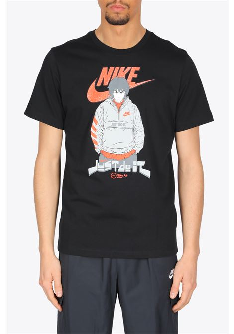 MANGA T-SHIRT NIKE | 8 | DC9101-010BLACK/RED