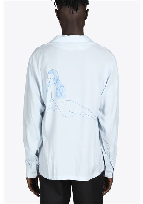 PIN UP GIRL LS SHIRT STUSSY | 6 | 1110164 PIN UP GIRL LS SHIRTLIGHT GREY