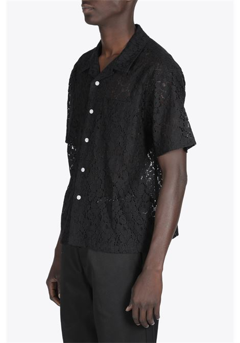 FLORAL PATTERN LACE SHIRT STUSSY | 6 | 1110178 FLORAL PATTERN LACE SHIRTBLACK
