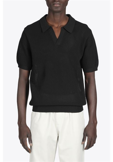 CABLE MESH SS POLO STUSSY | 2 | 117089 CABLE MESH SS POLOBLACK