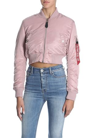 ALPHA INDUSTRIES | -276790253 | 178011 MA-1 SF PM CROPPEDSILVER PINK