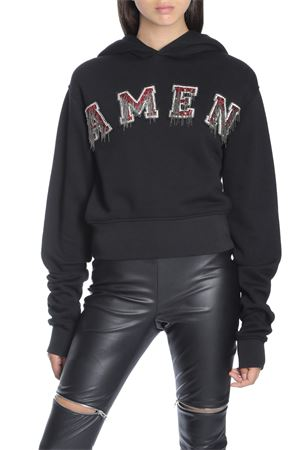AMEN | -108764232 | JSW18202 CROPPED SWEATSHIRT W EMBR009
