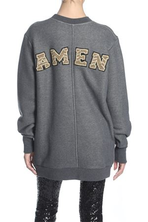 AMEN | 11 | JSW18451 MINIDRESS IN SWEATER W EMBR037