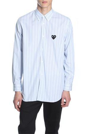 COMME DES GARCONS PLAY | 6 | P1B010 PLAY STRIPED SHIRTBLUE