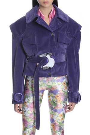 NEITH NYER | 17 | MIST SHORT COAT WT ASYMMETRICAL FRONTPURPLE