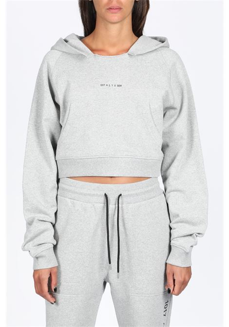 WOMENS HOODED SWEATSHIRT 1017 ALYX 9SM | -108764232 | AVWSW0009FA01 WOMENS HOODED SWEATSHIRTGREY