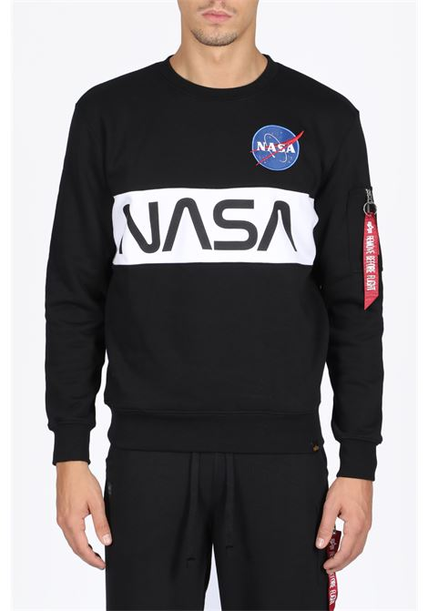 ALPHA INDUSTRIES | -108764232 | 178308 B NASA INLAY SWEATER03