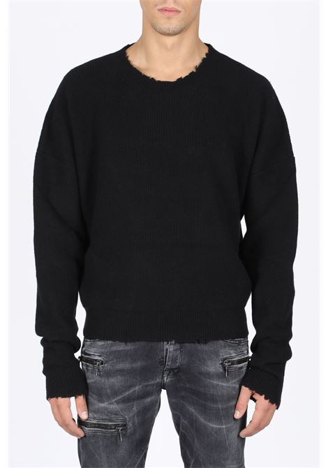 RIBBED OVERSIZED SWEATER BEN TAVERNITI - UNRAVEL PROJECT | -1384759495 | UMHE003F19063001 RIB OVERSIZE CREWNECK1000