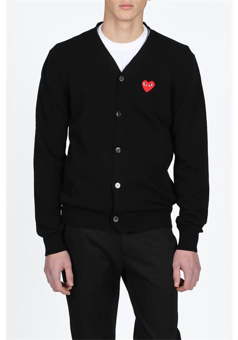 cdg play cardigan COMME DES GARCONS PLAY | 39 | P1N008 PLAY CARDIGANBLACK