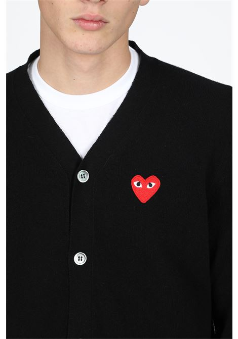COMME DES GARCONS PLAY | 39 | P1N008 PLAY CARDIGANBLACK