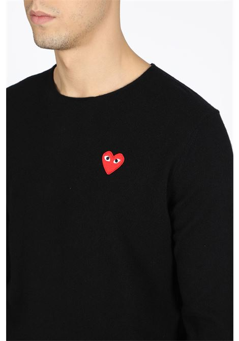 cdg play sweater COMME DES GARCONS PLAY | -1384759495 | P1N068 MENS SWEATBLACK