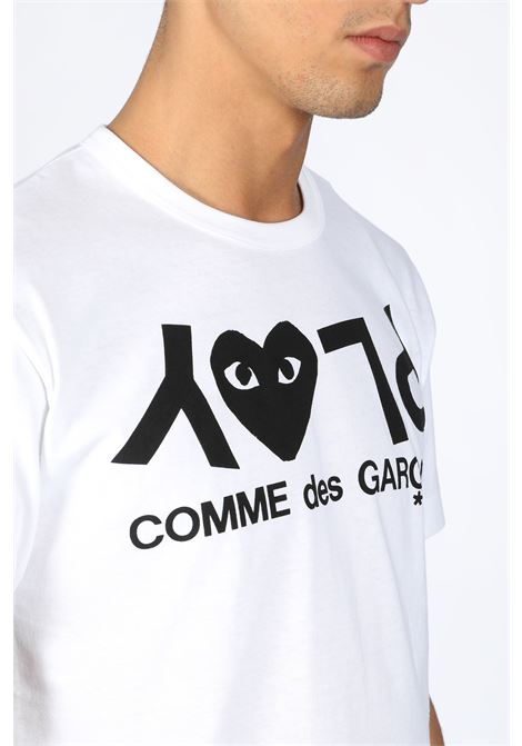 T-SHIRT WITH LOGO PRINT COMME DES GARCONS PLAY | 8 | P1T068 PLAY T-SHIRTWHITE