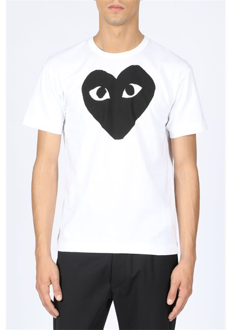 T-SHIRT BLACK HEART PRINT COMME DES GARCONS PLAY | 8 | P1T070 PLAY T-SHIRTWHITE