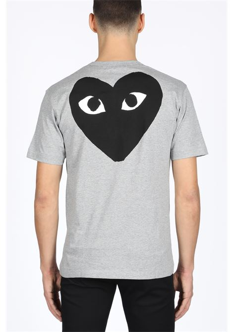 t-shirt back black heart print COMME DES GARCONS PLAY | 8 | P1T072 PLAY T-SHIRTGREY