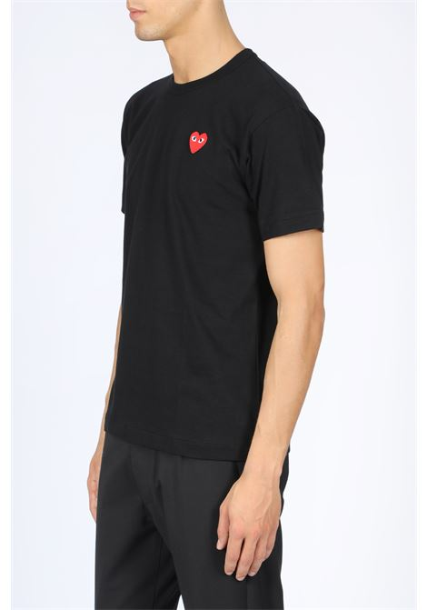 T-SHIRT PATCH CUORE ROSSO COMME DES GARCONS PLAY | 8 | P1T108 PLAY T-SHIRTBLACK