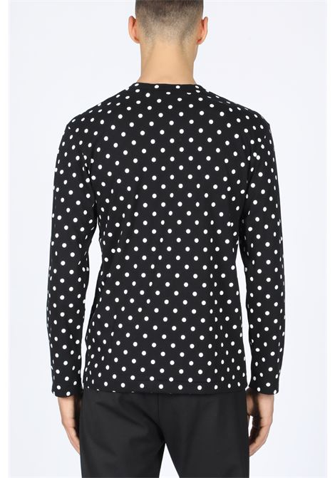 POLKA DOTS T-SHIRT RED HEART PATCH COMME DES GARCONS PLAY | 8 | P1T166 PLAY POLKA DOT T-SHIRTBLACK/WHITE
