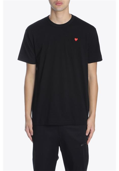 T-SHIRT RED HEART PATCH COMME DES GARCONS PLAY | 8 | P1T200 PLAY T-SHIRTBLACK
