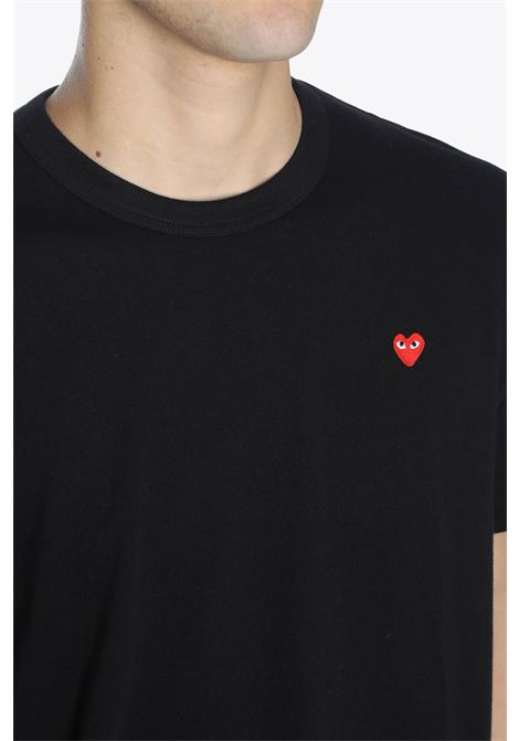 T-SHIRT PATCH CUORE ROSSO COMME DES GARCONS PLAY | 8 | P1T200 PLAY T-SHIRTBLACK