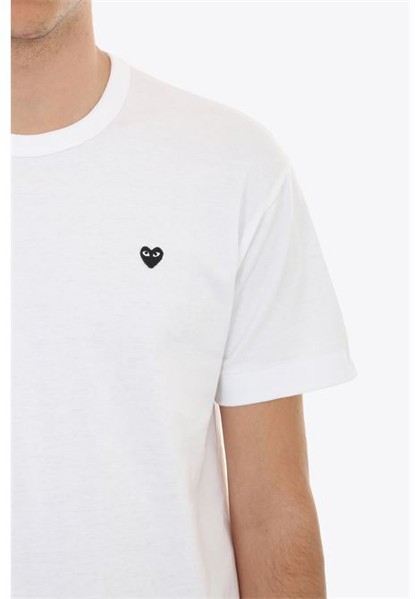 T-SHIRT BLACK HEART PATCH COMME DES GARCONS PLAY | 8 | P1T202 PLAY T-SHIRTWHITE