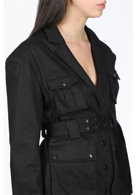 MILITARY DRESS DANIELLE GUIZIO | 11 | DGS9D2511 MILITARY DRESSBLACK