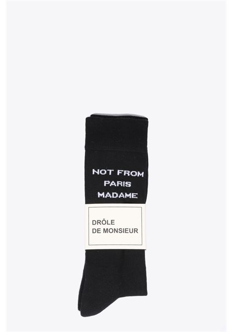 CALZINO NOT FROM PARIS MADAME DROLE DE MONSIEUR | 33 | FK19-NFPM SOCKBLACK