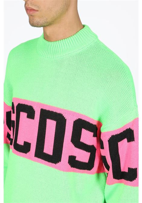 GCDS | -1384759495 | CC94M020218 COLORFUL LOGO SWEATERGREEN