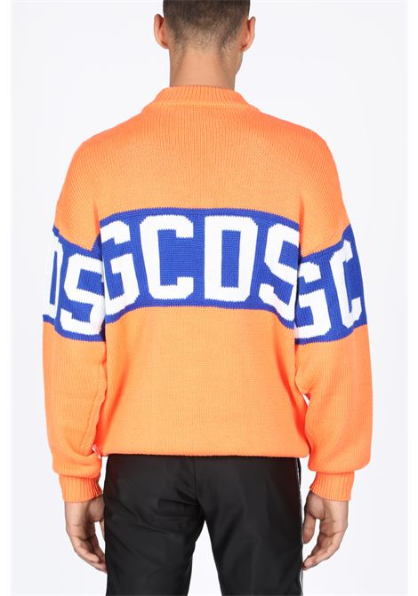 GCDS | -1384759495 | CC94M020218 COLORFUL LOGO SWEATERORANGE