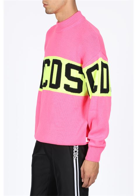 GCDS | -1384759495 | CC94M020218 COLORFUL LOGO SWEATERPINK