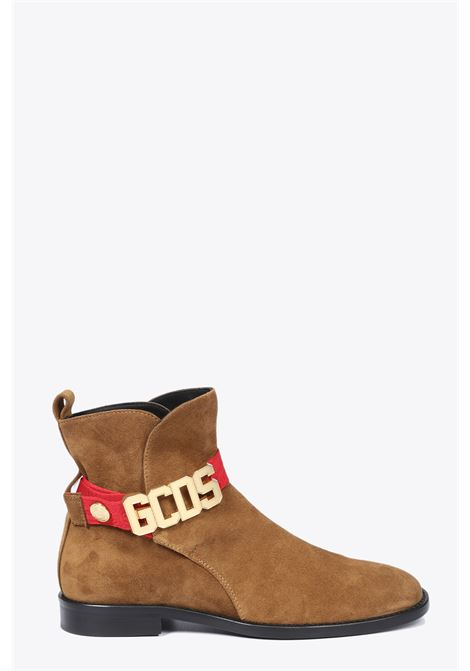 GCDS | 10000042 | FW20M010011 CLASSIC LEATHER BOOTBROWN