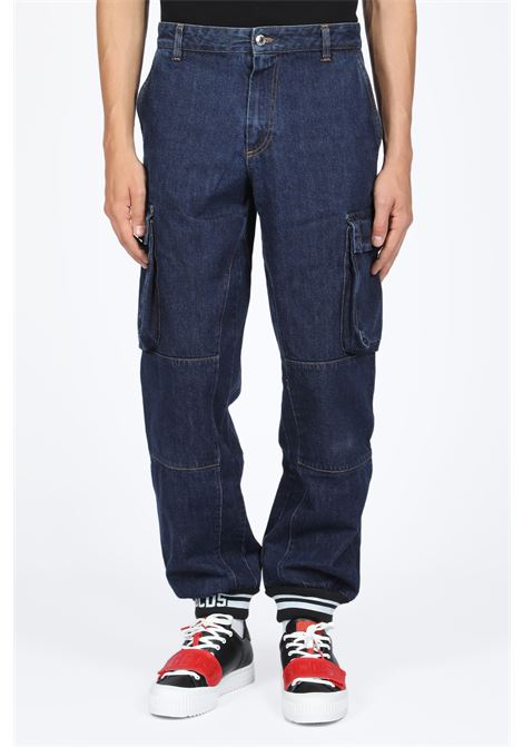 GCDS | 9 | FW20M030049 CARGO FIT DENIMBLUE