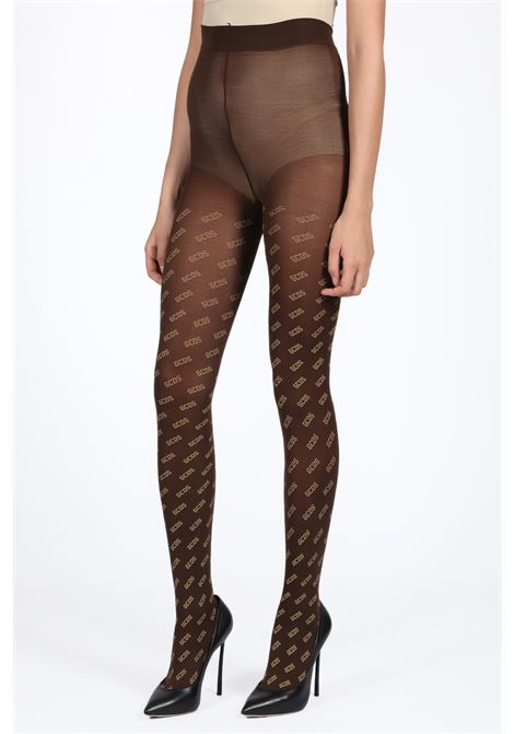 TIGHTS ALL OVER GCDS | 33 | FW20W010355 TIGHTS ALL OVER GOLDBROWN