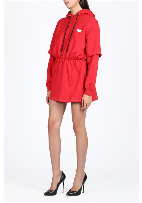 BASIC DOUBLE DRESS HOODIE GCDS | -108764232 | FW20W020022 BASIC DOUBLE DRESS HOODIERED