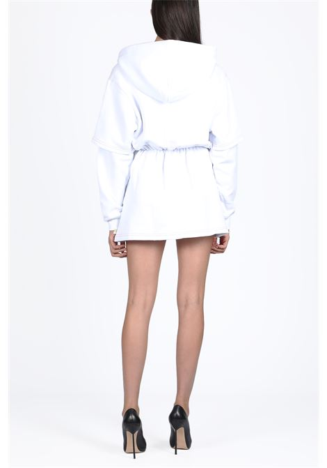 BASIC DOUBLE DRESS HOODIE GCDS | -108764232 | FW20W020022 BASIC DOUBLE DRESS HOODIEWHITE