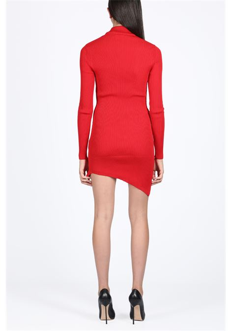 GCDS | 11 | FW20W020051 COLLAR ASYMMETRIC DRESSRED