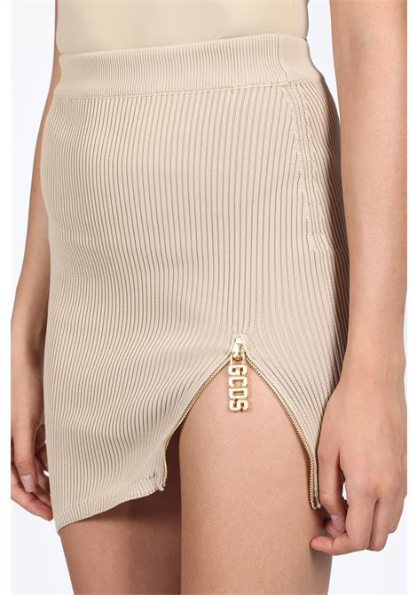 ASYMMETRICAL ZIP SKIRT GCDS | 15 | FW20W030032 ASYMMETRICAL ZIP SKIRTBEIGE