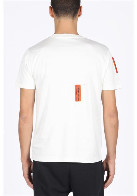HERON PRESTON | 8 | HMAA004F198100140219 REGULAR TSHIRT SS CWHITE/ORANGE