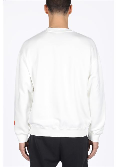 HERON PRESTON | -108764232 | HMBA003F198080010288 CREWNECK PERMANENTWHITE/MULTICOLOR