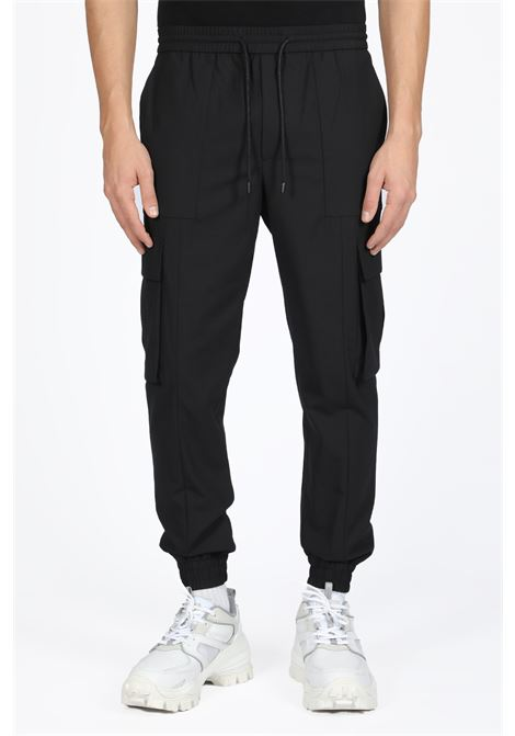black wool cargo pant with ankle cuff JUUN.J | 9 | JC9821P315BLACK