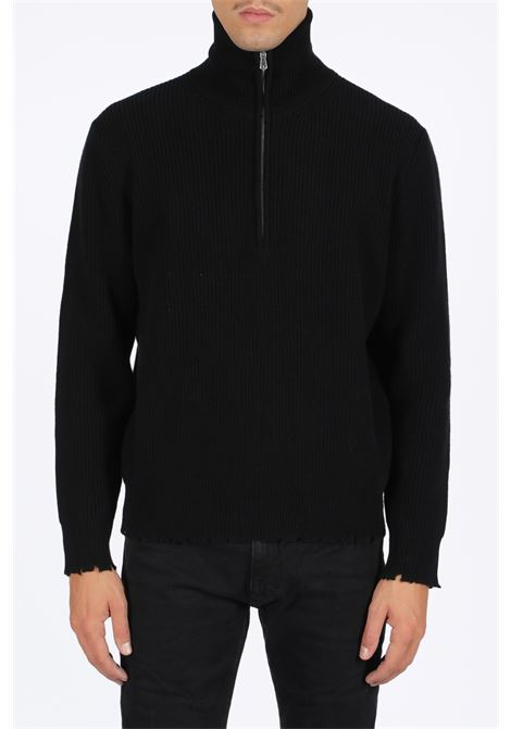 HALF ZIP ENGLISH ROTTURE LANEUS | -1384759495 | MGU757 HALF ZIP ENGLISH ROTTUREBLACK