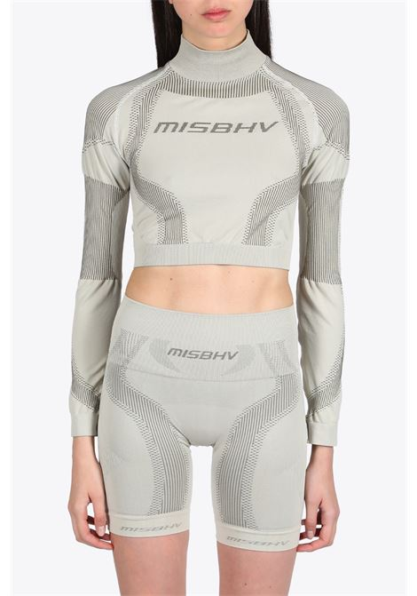 MISBHV | 40 | 119W160 ACTIVE CROPPED TOPBEIGE