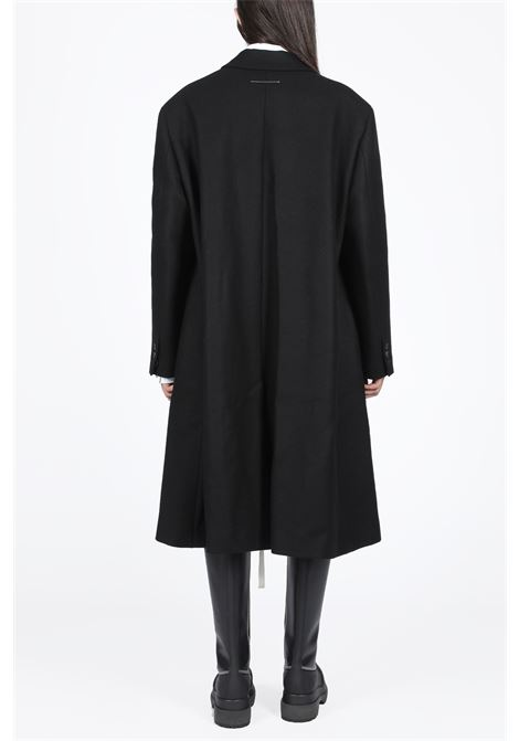 cappotto doppiopetto in panno MM6 MAISON MARGIELA | 17 | S32AA0155 S52207BLACK