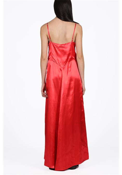 satin long dress with logo MM6 MAISON MARGIELA | 11 | S32CU0077 S52219RED
