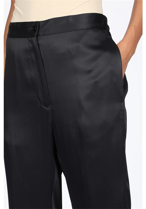 satin high waist cropped pant  MM6 MAISON MARGIELA | 9 | S32KA0570 S45399BLACK