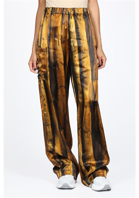 Fur printed satin wide pant  MM6 MAISON MARGIELA | 9 | S32KA0579 S52222PRINT